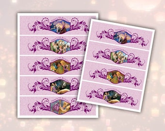 Tangled Rapunzel Water Bottle Labels Printable