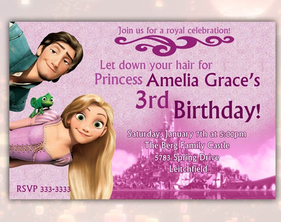 Items Similar To Disney Rapunzel Tangled Happy Birthday