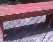 Rustic Knotty Bench