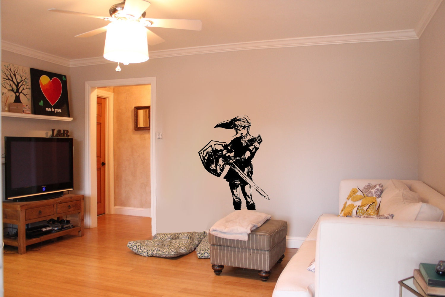 Wall stickers zelda color the walls of your house wall stickers zelda legend of zelda inspired link wall decal free us by vinylvanquish amipublicfo Choice Image