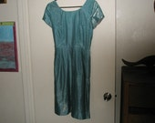 RESERVED FOR CINAMON81. 1960's Sparkling Turquoise Dress Size Small