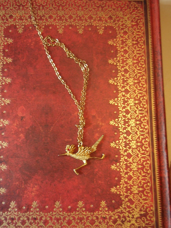 Madiera Red-Eyed Roadrunner Necklace