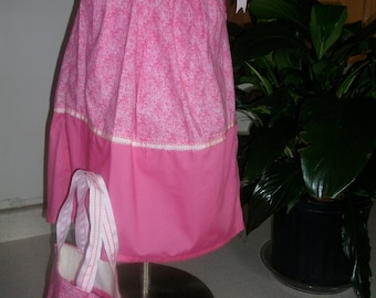 Custom Made Infant  Baby  Toddler  Pillowcase Dress With Matching, Size 18 mos