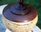 Spalted Beech and Black Walnut Wish Urn
