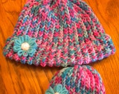 Mommy and me knitted hat.