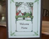 Handcrafted Welcome Home Greeting Card