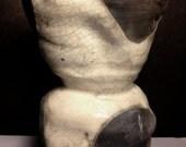 Black and White Altered Raku Vase