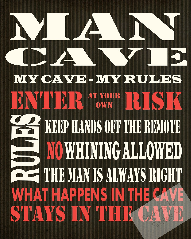Man Cave Subway Art : Download and print jpeg image man cave typography art
