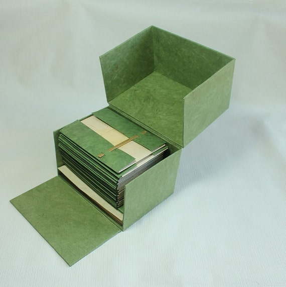Boxed Invitation Cards Set w/ envelopes for Wedding Handmade Paper Lokta Eco Friendly