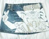 Ganesh Denim Stretch Mini Skirt