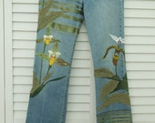 Orchid Olive Ribbon Stretch Jeans