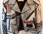 White Studded Punk Jacket for porcelana