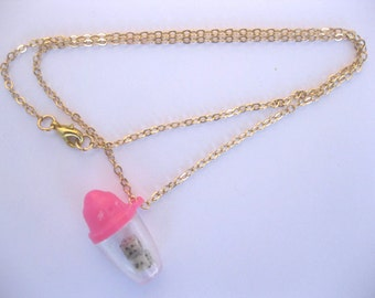 Mini dice shaker on an 18 inch gold chain