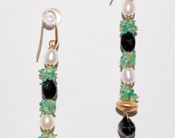 Precious Columbian Emerald Earrings with Sterling Silver