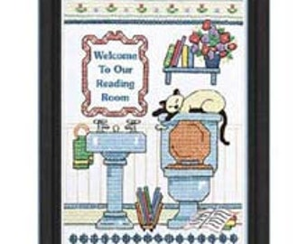 Cross Stitch Kit - Reading Room Welcome