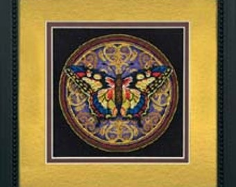 Cross Stitch Kit - Ornate Butterfly