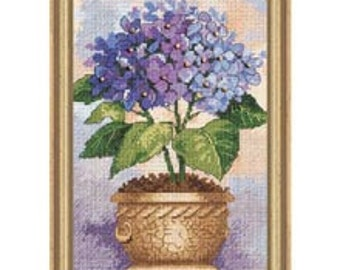 Cross Stitch Kit - Hydrangea in Bloom