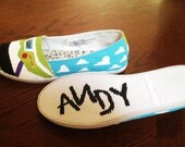 Toy Story Painted Shoes (Send me your TOMS, Vans, Keds, etc...)
