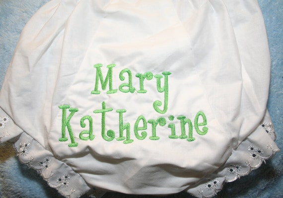Personalized Monogrammed Diaper Cover Name or Initials