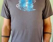 Tunnel Of Love Hand Printed Tee Shirt by ZU ZuvuyaUniversal Medium