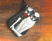 Beaded Cat Duo Pouch
