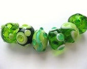 ORIGINAL HANDMADE LAMPWORK Murano Glass Beads (Set of 6)