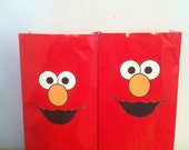 6ct Elmo Party Goody Favor Bags Birthday Parties