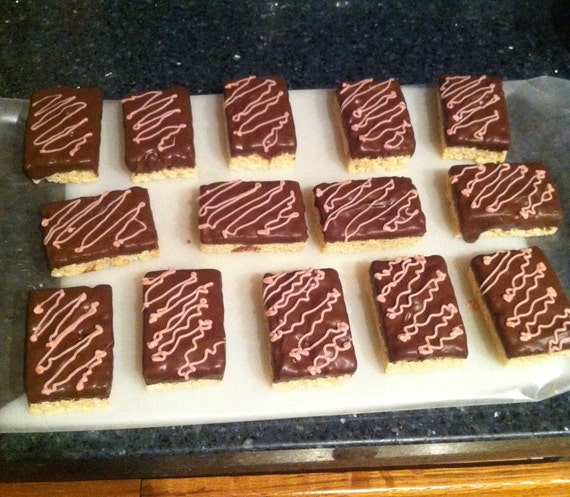 Chocolate Dipped Rice Krispy Treat