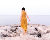 Bridesmaid Mustard Yellow Dress. Bridesmaid Gown. Bridesmaid Wrapping Dress. One Size Fits All. Beach Wedding Perfect.