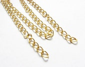 Gold tone Chain 18 Inches Qty 10 Jewelry Finding Supplies DIY