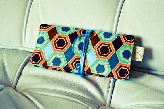 "Tobacco pouch ""Vintage Sun"" / Light weight cotton fabric pouch"