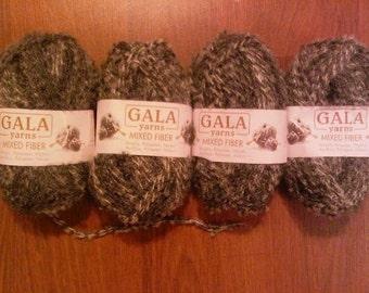 4 Gala Mixed Fiber Boucle Yarn - thinner boucle strands, feels like cotton
