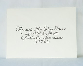 Custom Wedding Calligraphy for Invitation Envelope Addressing - Place Cards, Escort Cards, Custom Invitations Also Available