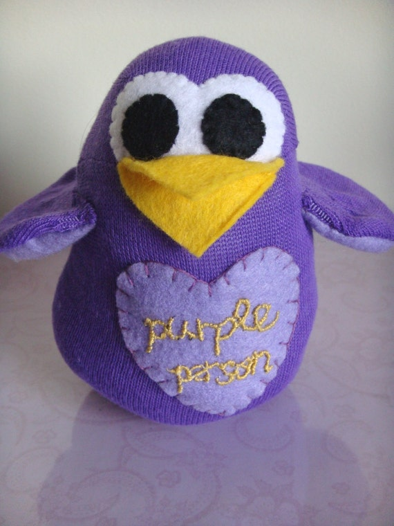 Purple Sock Percy Plush - RESERVED for SD,MCR