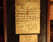 """Jack the Ripper,  """"From Hell"""" Letter framed."""