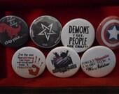 Supernatural Buttons pick 5