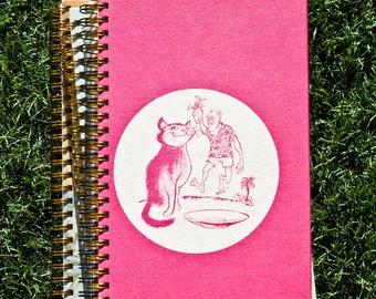 Pink Vintage Journal - Notebook - Sketchbook