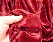 """54"""" Burgundy Wine Premium Panne Crushed Velvet Fabric Yardage Material"""