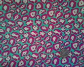 Pink and Green Leopard Print. Fat Quarter.  More available.