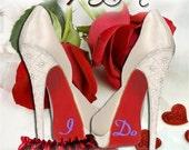 I DO wedding shoe decals for your wedding shoes photo prop keepsake something blue