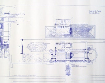 Frank Lloyd Wright Tomek House Blueprint