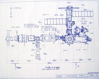 International Space Station Port View Blueprint