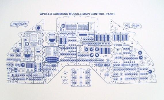 Apollo Command Module Main Control Panel Blueprint