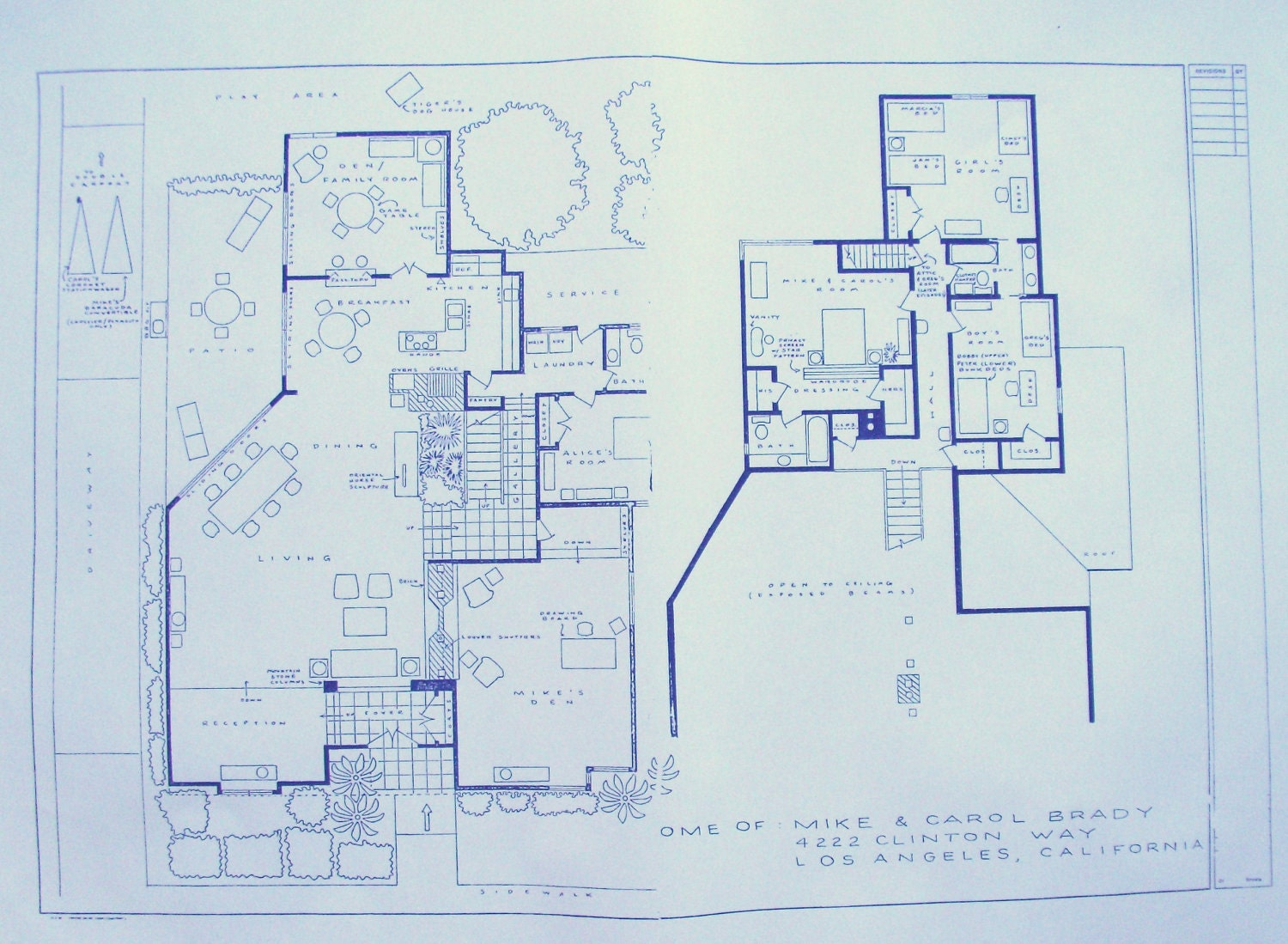 brady bunch house floor plan - photo #3