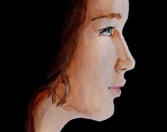 If We Burn, You Burn With Us- Katniss Portrait