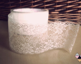 Lace Tape Adhesive Transparent Sticker Vintage White - Wedding- 10 different patterns- Also some patterns available in PINK!