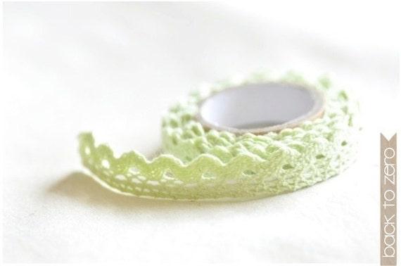 Lace Cotton Tape - Mint