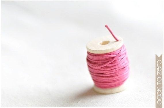 Wax Cotton Twine - Fuschia
