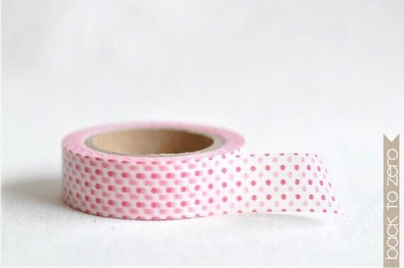 Washi Tape - Red & Pink Polka Dots