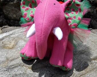 "Pink Plush Elephant - ""Melonie"""
